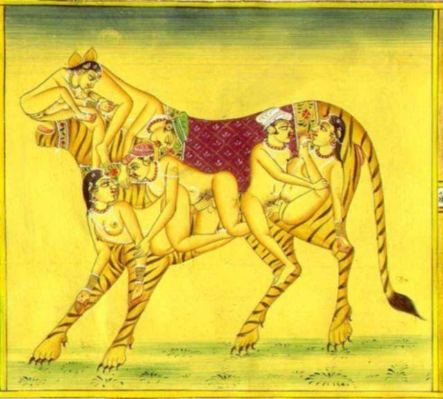 Индийская девушка ебется в разных позах из камасутры в картинках
